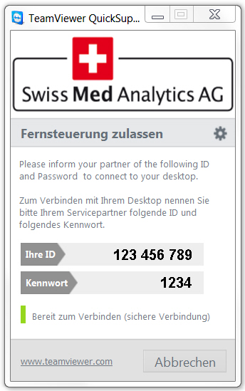 Swiss Med Analytics AG Fernwartung